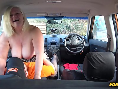 The kinkiest driving lesson for hot granny Lacey