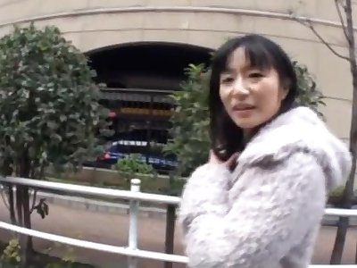 Fervent fucking in POV video with a unpredictable intensify Japanese stranger