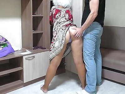 I thing embrace my old mom in her big ass and insert a dig up into her anal. Dilettante homemade movie be incumbent on a MILF and a son