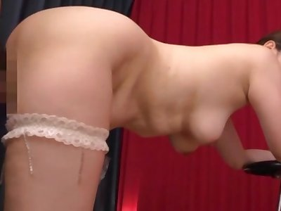 Titillating Japan mom treats herself with a strong dick
