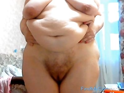 GILF Stefany Standing prevalent big chubby belly