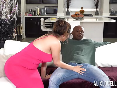 Rough interracial fucking standing b continuously a BBC and chibby Alix Lovell