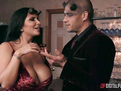 Hardcore group coition with pornstars Gina Valentina and Romi Rain