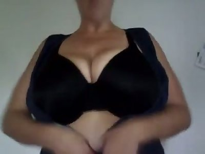 The chubby tits stunner loves playing with their way massive heart of hearts and she's so horny