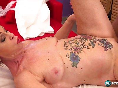 inked granny Caroline Hamsel hot massage dealings