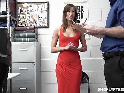 Security guy punishes amercement tall woman Christy Love