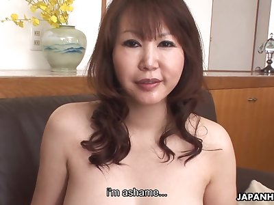 Asian cougar here D-cup boobs Waka Kano gets her slit rammed