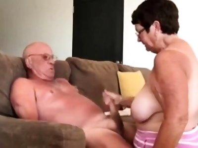 Explicit giving husband a blow hand job