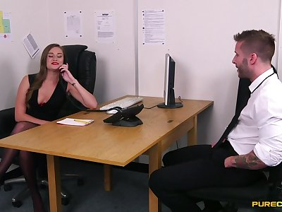 Job put to use goes nasty once the hotties start avidity for cock